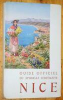 Paschetta GUIDE OFFICIEL DU SYNDICAT D'INITIATIVE DE NICE 1949 Alpes-Maritimes