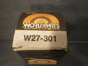 WORLDPARTS W27-301 Oil Filter Cartridge NOS Auto Parts For Imports 1969 Toyota