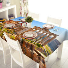 Creative  Build 3D Tablecloth Table cover Cloth Rectangle Wedding Party Banquet