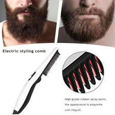 Pro Hair Electric Quick Beard Straightener Comb Heated Brush Styler Gift for Men