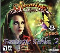 """Amazing Hidden Object Games """"Fantastic Fables 2"""" PC Game 5-PACK - FACTORY SEALED"""