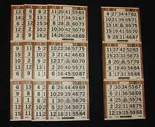 BINGO PAPER Cards 3 on 1 Brown Vertical,  125 sheets  FREE SHIPPING US