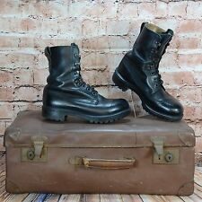 Punk Work Army Goth Steampunk Black Leather Combat Lace Up Boots UK 6 M
