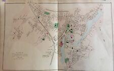 Village of Ipswich, Massachusetts Lithograph Map 1884