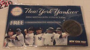2004 New York Yankees Baseball Medallion New York Post - LOT R220