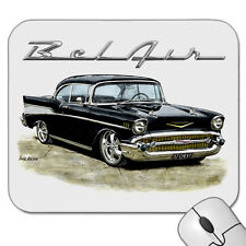 57' Chevy Coupe 1957 Chevrolet Mouse Pad (6 Different Car Colours)
