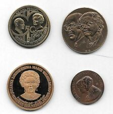 NETHERLANDS ROYAL FAMILY LOT OF 4 MEDALS JULIANA AND BERNHARD 1937-1987