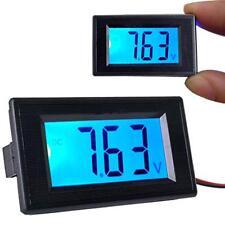 Blue LCD Digital Voltmeter Battery Monitor Panel Meter