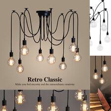 Industria Retro 6/8/10/12 Head LED Chandelier Fans Light Candelabro Techo Ligero