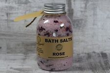 Rose Bath Salt Aromatherapy soak with dead sea salt detox rose petals 400g