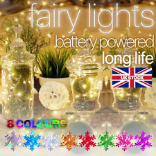 Christmas Battery String LED Fairy Lights Micro Warm Copper Wire Party 2M 3M 5M+