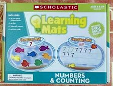 Numbers & Counting Learning Mats, Scholastic Teaching Resources 5 yrs+ K2 *LOOK*