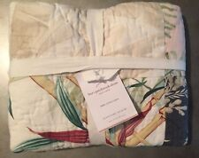 New Pottery Barn Bari Patchwork Euro Pillow Sham Tropical 26� Floral Quilted