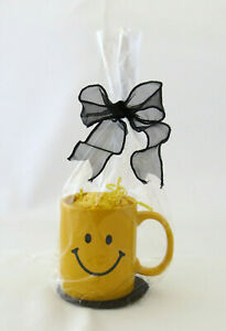 """Yellow Smiley Face Mug as """"Ready to Fill"""" Gift Basket for All Occasions"""