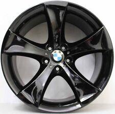20 inch Genuine BMW X5 / X6 RUN FLAT ALLOY WHEELS FINISHED IN CUSTOM GLOSS BLACK