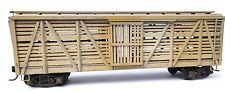 Wood HO Scale Model Train Carriages