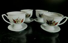 SET OF 4 x HENDRICKS GIN CUPS AND SAUCERS WITH NEWSIES QUOTE
