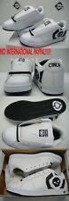 New Mens 7 CIRCA Bold 211 White Skull Leather Skate Shoes $80