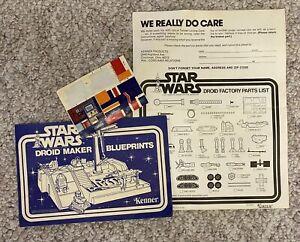 Vintage Star Wars DROID FACTORY ORIGINAL Instructions & Sticker Sheet 1979 NICE!
