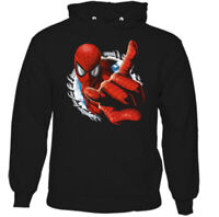 SPIDERMAN HOODIE, Mens Superhero Marvel Peter Parker Unisex Top Tee