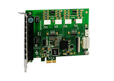 OpenVox A810E 8 Port Analog PCI-E card base board, No FXO FXS Modules