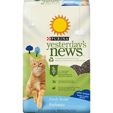 Purina Yesterday's News Non Clumping Paper Cat Litter, Fresh Scent Low Tracking