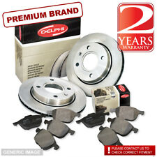 Mazda MPV 2.0 Front Brake Pads Discs 296mm Vented & Rear Pads 120BHP 09/99-On