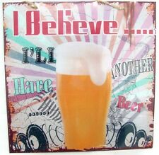27384 I BELIEVE I'LL ILL HAVE ANOTHER BEER MAN CAVE TIN WALL SIGN FATHERS DAY