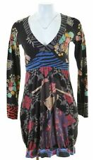 DESIGUAL Womens A-Line Dress Size 12 Medium Multicoloured Cotton  EF04