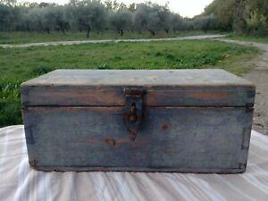Ancienne Caisse à outils en Bois Déco industrielle Loft......