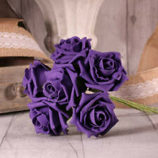 FOAM ROSE BUNCH 7 CM 23 COLOURS WEDDING BOUQUET DECOR CENTREPIECES