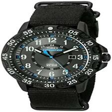 ❤❤ Mens Watch Timex Tw4b03500 Expedition Gallatin Black/Blue Nylon Slip-Thru Str