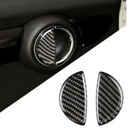 Uk 2 Carbon Fiber Style Door Handle Covers For Mini Cooper S R50 R53 R55 R56