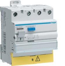 Interrupteur différentiel 4P40A 30 mA type AC à vis bornes décalée Hager CDC840F
