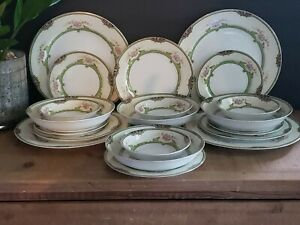 Vintage Noritake Floreal- 5 Piece Place Setting - Serving for 4