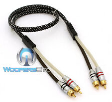Sundown Audio 3Ft Saz 2 Channel Solid 100% Ofc Copper Twisted Rca Amplifier Wire