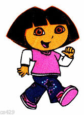 """2.5"""" DORA & BOOTS NICK JR CHARACTER NOVELTY  FABRIC APPLIQUE IRON ON"""