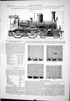 Antique Old Print 1889 Passenger Engine Italian Mediterranean Railway Frescot