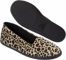 Dearfoams Rebecca Microfiber leopard velour closed back women's slippers