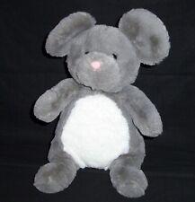 "New listing 13"" Manhattan Toy Woodlanders Mindy Mouse Gray White Plush Stuffed Animal"