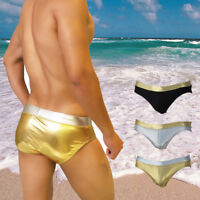 New Men's Swim Briefs Wet Look Sexy Swimming Shorts Beach Wear Bikini Swimsuit