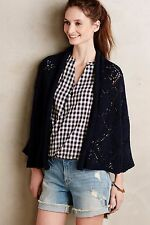 ANTHROPOLOGIE GRADUATED DIAMONDS CARDIGAN BY ANGEL OF THE WINDS XS/S NAVY KIMONO