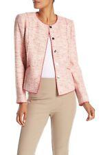Elie Tahari Alianna Women's Jacket Large Gala Apple Tweed Blazer $468