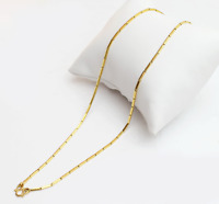 """22k gold necklace baht chain  ( weight 7.5 gram ) ( 24"""") #BB"""