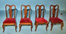 VINTAGE 4 SIDE CHAIRS HONEY PINE, #746HPA DOLL HOUSE FURNITURE MINIATURES