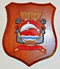 Hr Ms Dolfijn plaque shield crest Dutch Navy Netherlands gedenkplaat HNLMS