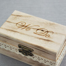 Rustic Wedding Ring Bearer Box Engrave Wood Wedding Ring Box, Wooden Wedding Box