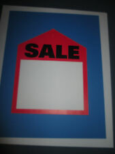 PRICE TAGS  - LARGE RED SALES TAG   6 X 7 1/2  10/PACK     #1294