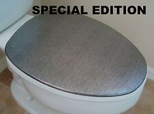 Shiny Lid Cover toilet SEAT Platinum for Standard & Elongated - HandMade in USA
