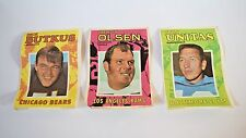 1971 Topps NFL Football Pin-Up Posters Lot of 3 UNITAS OLSEN BUTKUS
